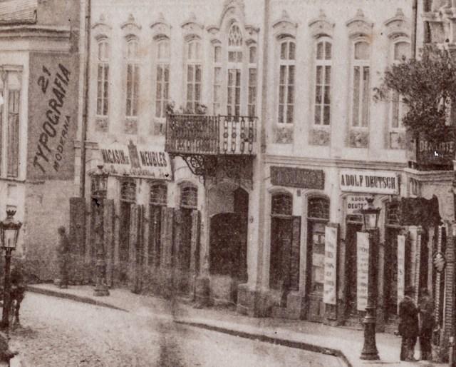 "Typografia Moderna, Magasin de Meubles, D.Solomon, Adolf Deutsch si ""Dentiste"""