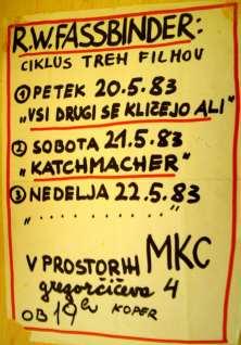 Fassbinder film (Arhiv: Boris Bradač)