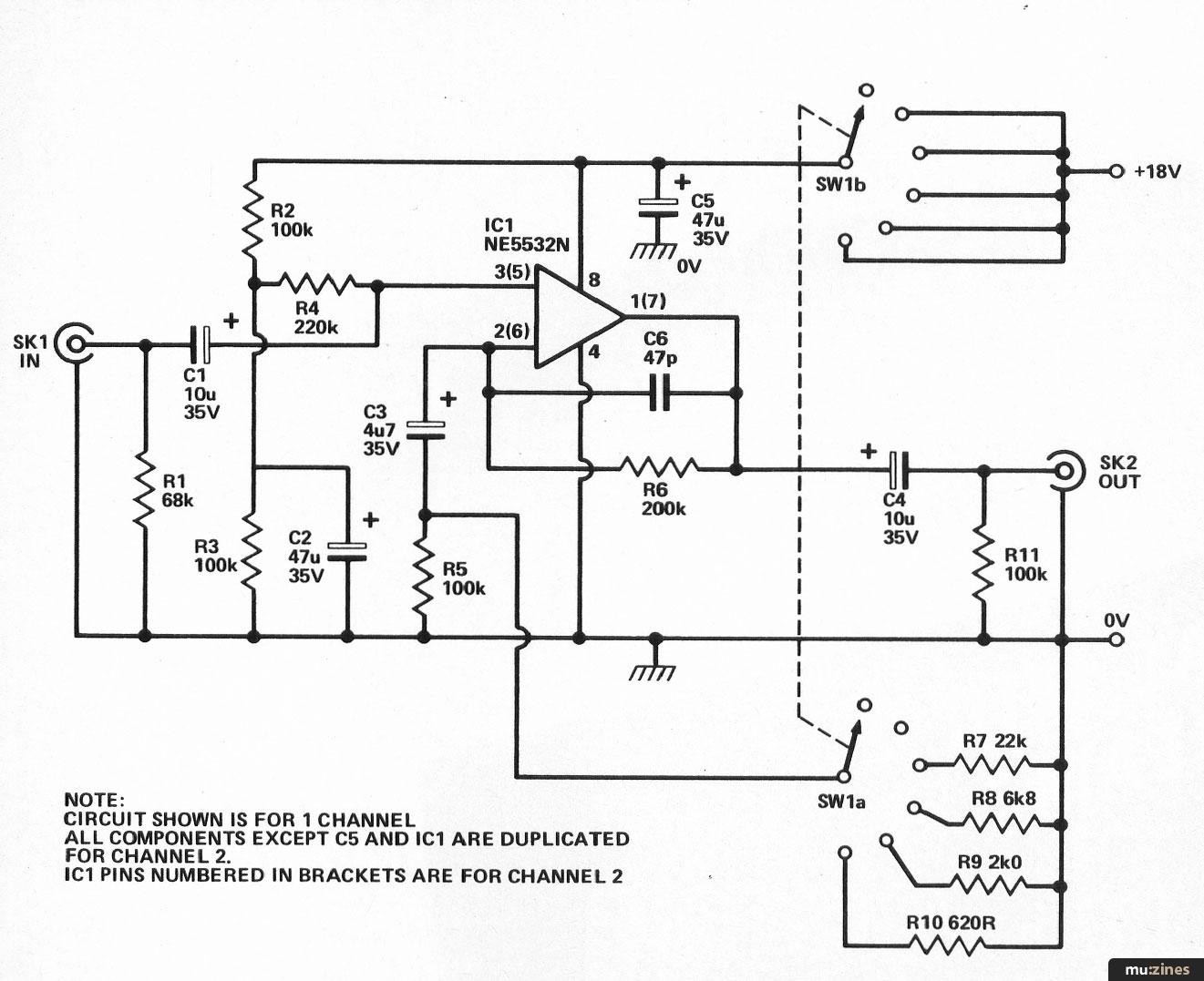 Dual Mic Pre Amp Es Apr 84