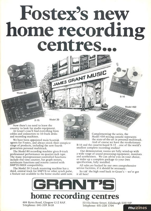 Home & Studio Recording, Aug 1985 Contents