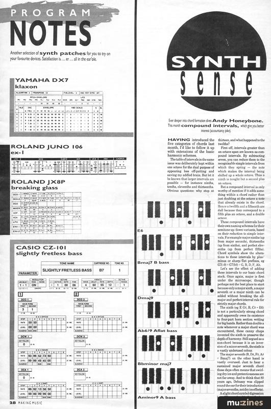 Program Notes (MM Jul 86)