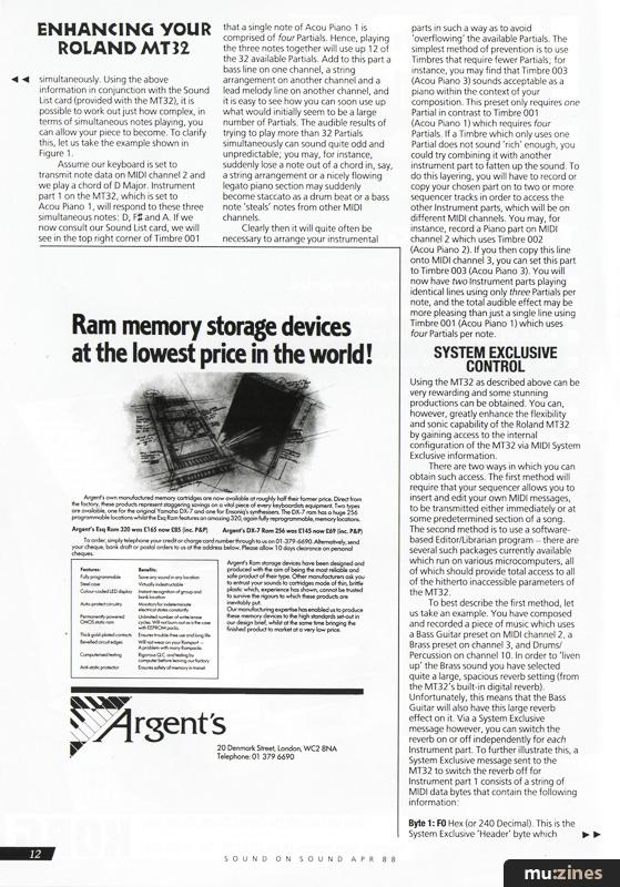 Sound On Sound, Apr 1988 Contents