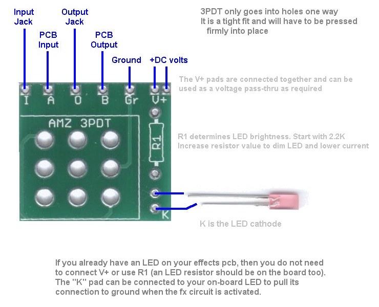 Amz 3pdt Switch Pcb