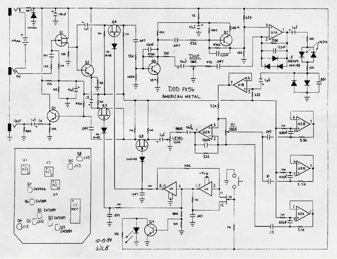 Eq Pedal Schematic