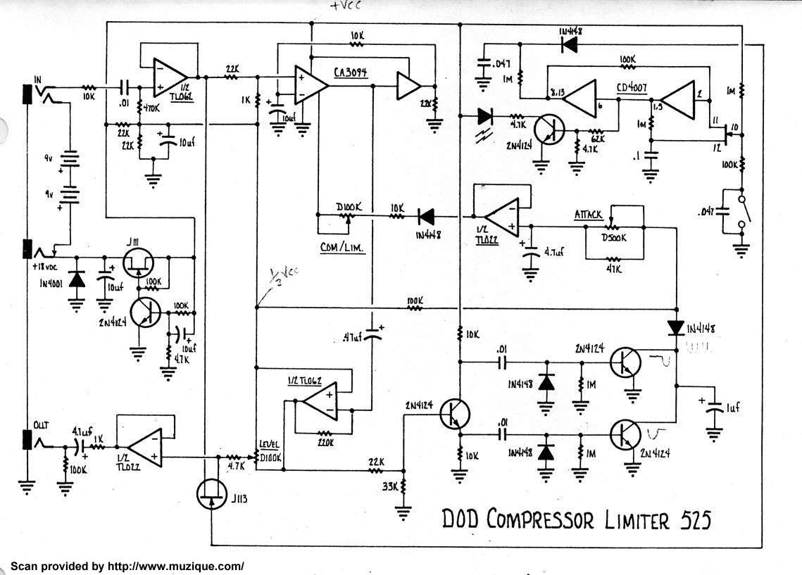 Diy Guitar Compressor Pedal Schematic