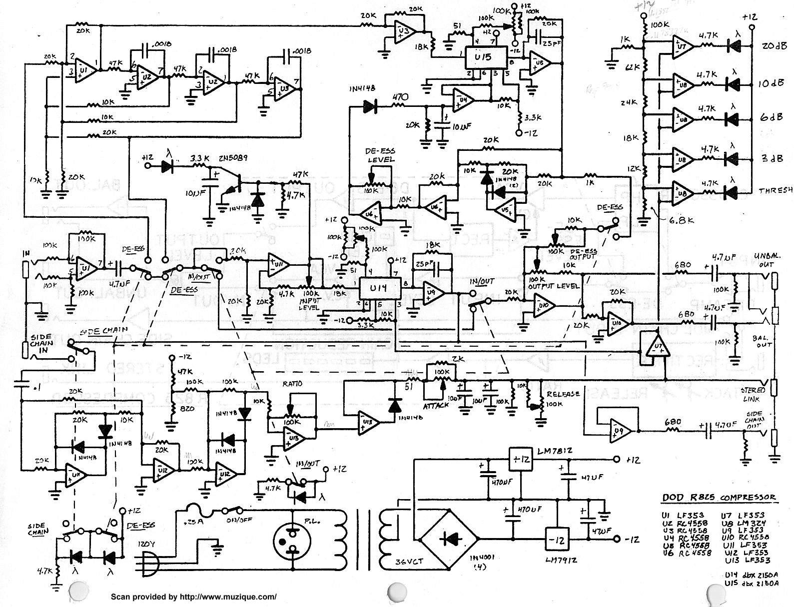 Tube Wah Schematic