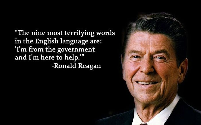 Reagan vs Government help