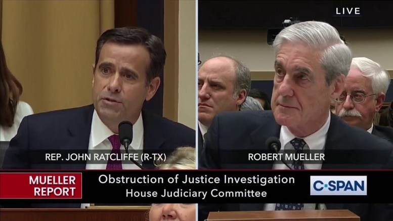 Rep. Rattcliffe grills Robert Mueller on exonerating the innocent