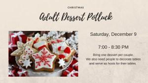 Christmas Dessert Potluck 2017