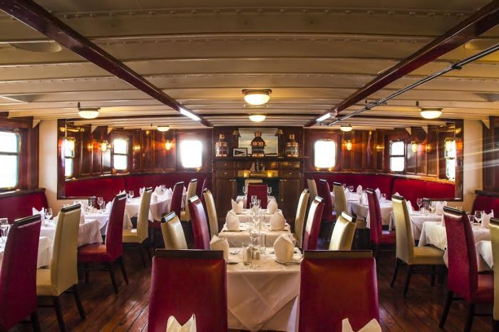Corporate Dining at the MV Cill Airne Boat Bar and Restaurant Dublin