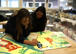 NAHS works to create mural for special education classroom