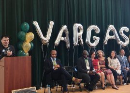 Jose Antonio Vargas Elementary School, named after Mountain View High alumnus, celebrates its opening