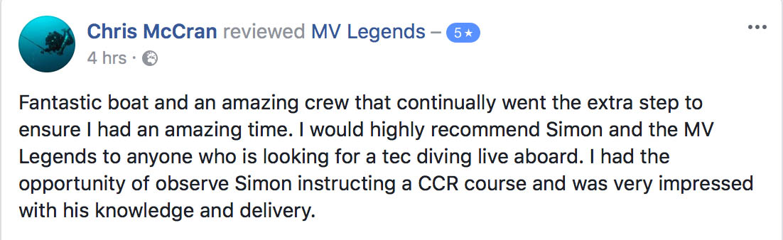 MV Legends Review
