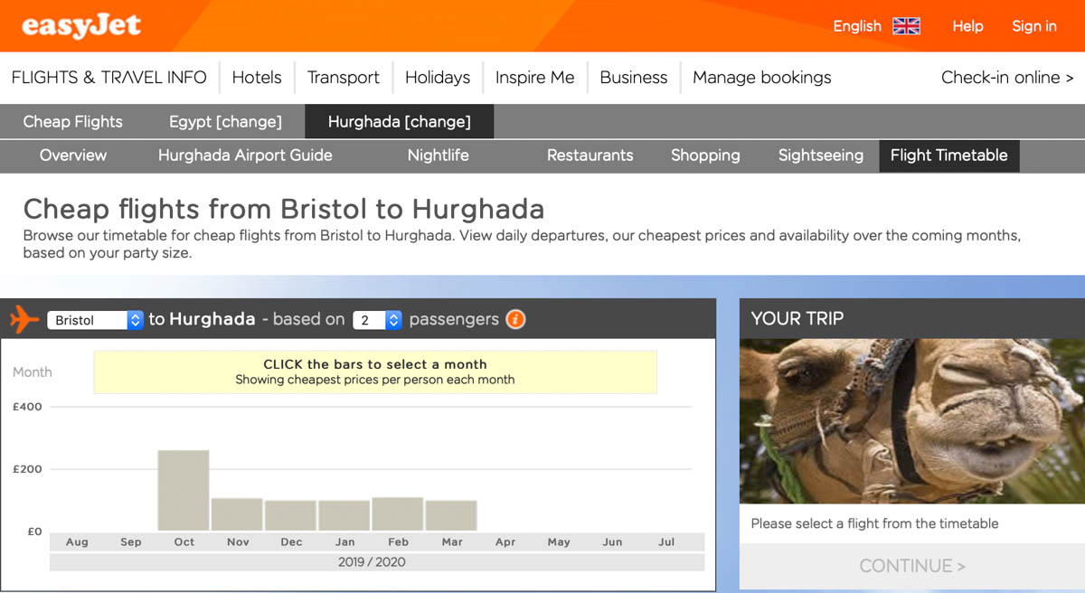 EasyJet Flights to Hurghada
