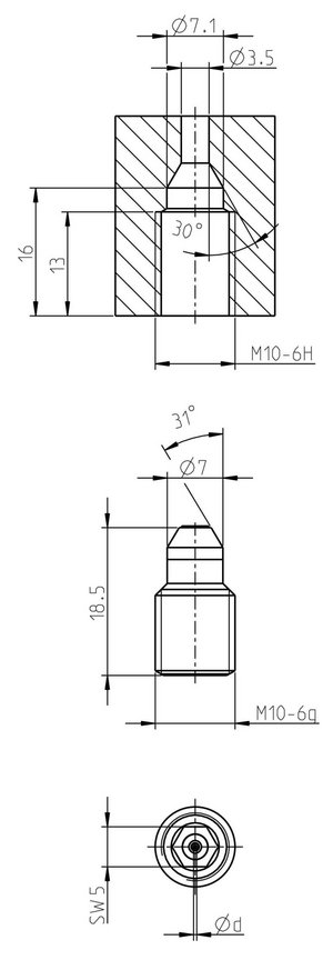 Sapphirenozzle type 250-M10 for surface treatment