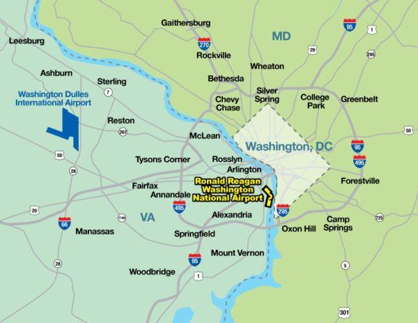 Directions to Ronald Reagan Washington National Airport