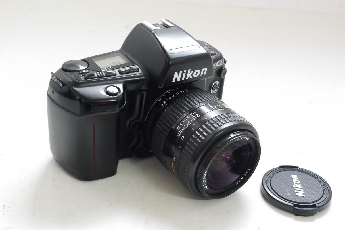 Nikon F90X 35mm AF SLR + 28-70mm f3.5-4.5 D AF Nikkor with makers front cap – MW Classic Cameras