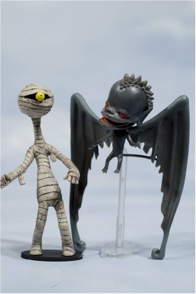 Nightmare Before Christmas Pumpkin King Igor Devil Bat kid and Mummy boy action figures