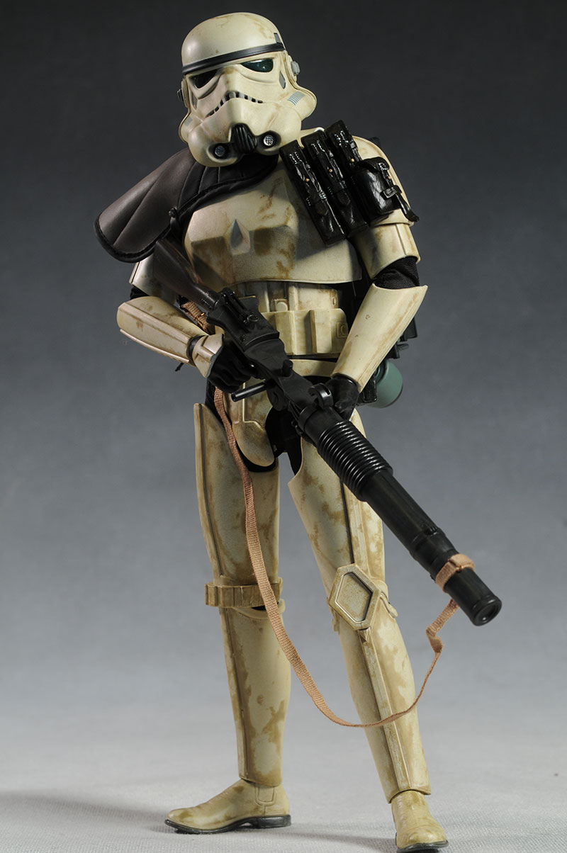 Review and photos of Sandtrooper Dewback sixth scale