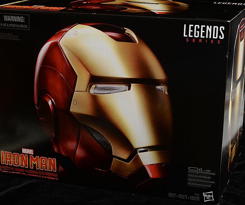 Marvel Legends Iron Man Helmet prop replica by Hasbro