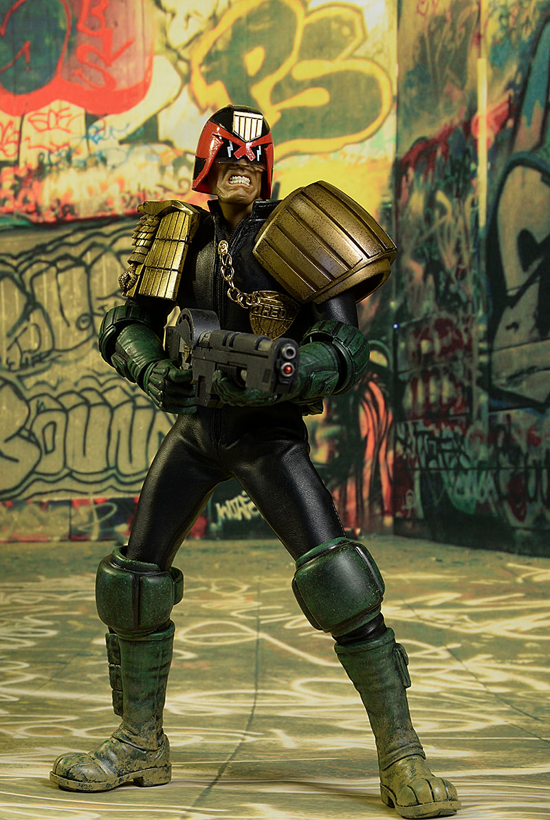 Judge Dredd sixth scale action figure by threeA