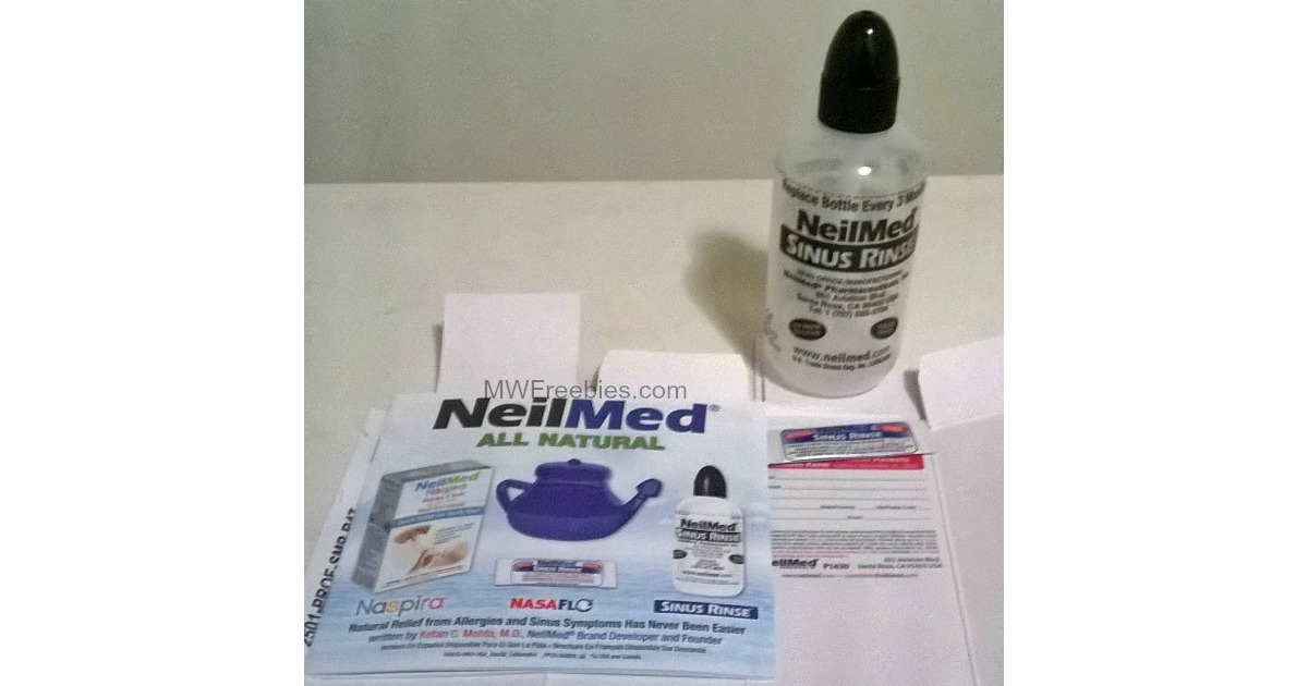 Free Sinus Rinse Bottle With Packet For Allergy Or Asthma Patients