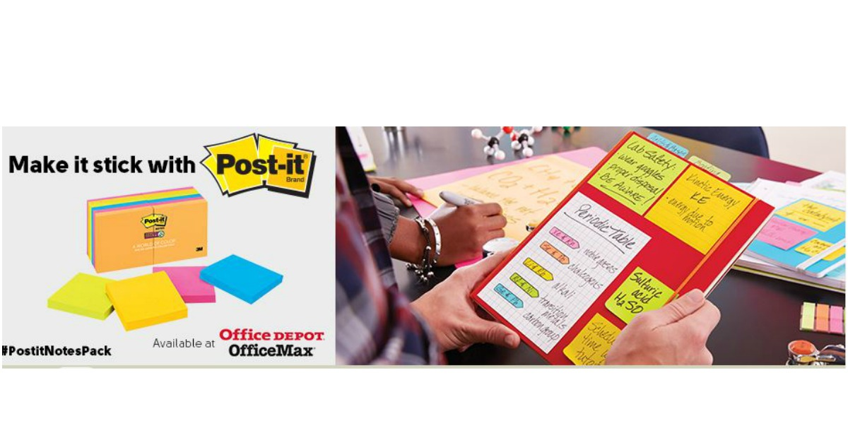 Possible FREE Pop-up Note Dispenser, Super Sticky Notes