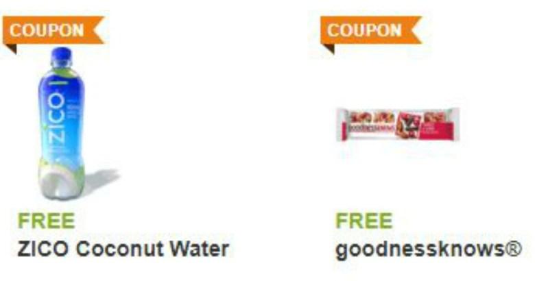 Free Zico Coconut Water Goodnessknows Snack Bar Shaws Star Market Mwfreebies