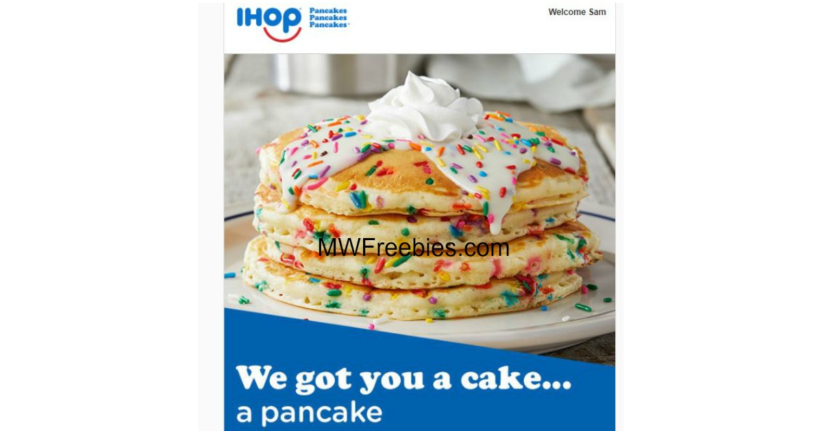 FREE Full Stack Of Any Flavor Pancakes IHOP For Your Birthday