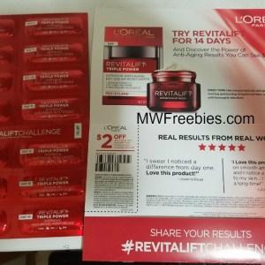 Free sample of l'oreal revitalift triple power moisturizer free.