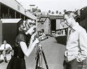 "eternally-grace: Grace and James Stewart behind the scenes of ""Rear Window"" - 1954."