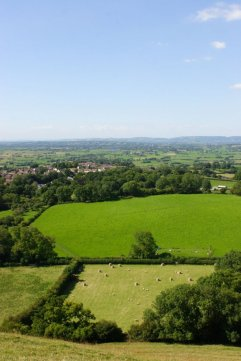 (The view from Glastonbury Tor) Lots more photos from the train from Edinburgh, Bath, Wells, Glaston