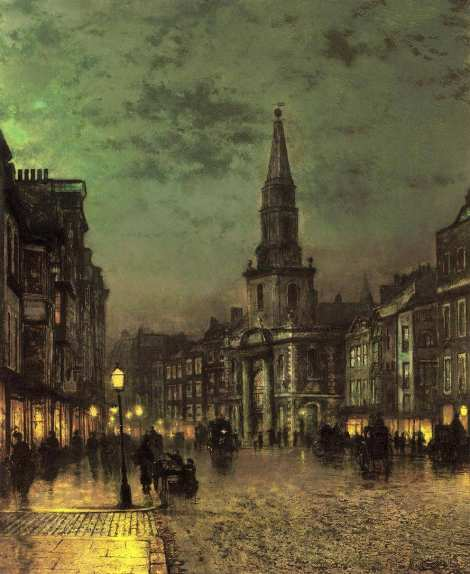 Blackman Street Borough, London by John Atkinson Grimshaw