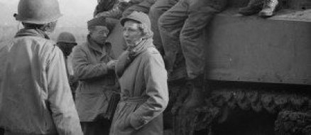 Martha Gellhorn (then married to Ernest Hemingway) covered the D-Day landings without permission.