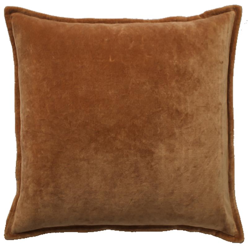 velvet cushion soft rust mw home