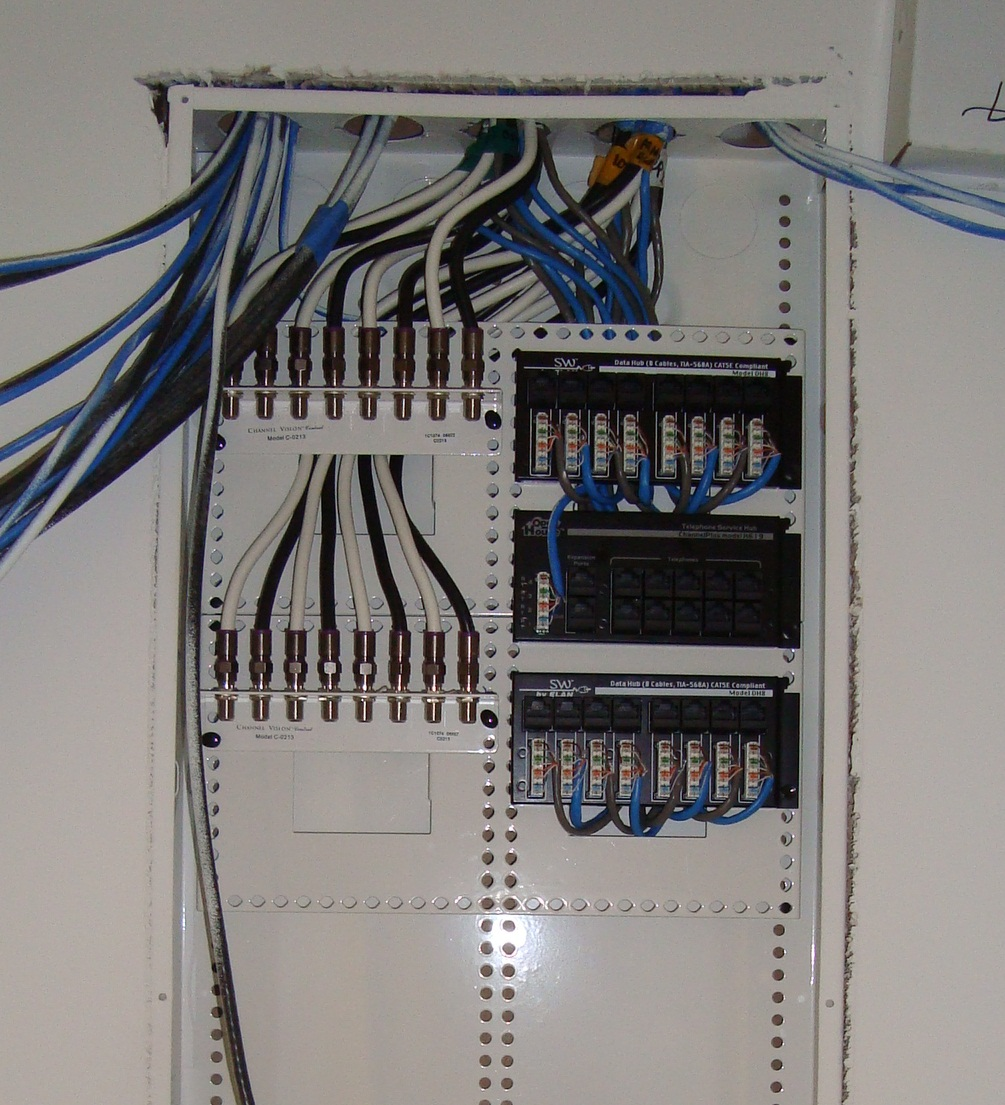 hight resolution of distribution structured wire with ethernet wall plate mwhomewiring 8 zone structured wire panel in process of