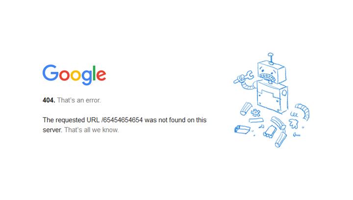 page error google - مجلة ووردبريس