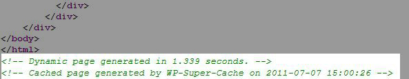 wp super cache check source page - مجلة ووردبريس