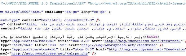 page source code meta seo  - مجلة ووردبريس