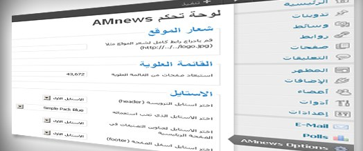 amnews option panel - مجلة ووردبريس