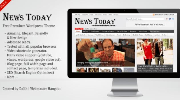 قالب NewsToday للمجلات الاخبارية تعريب مجلة ووردبريس