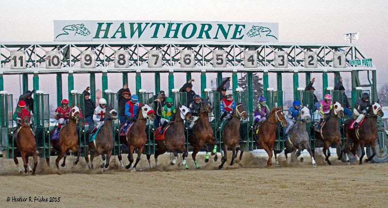 They're off at Hawthorne during the winter season.