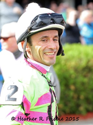 Leandro Goncalves is all smiles after winning the Honor the Hero aboard El Seventyseven.