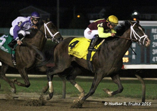 Golden Lad takes the $300,000 Grade 3 Cornhusker at Prairie Meadows Saturday night.  It was Javier Castellano's 2nd graded stakes win in as many mounts on the card.