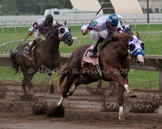 Eagles Span distancing himself from Expensive Paint Job - and the rest of the field - in the NCQHRA Futurity Sunday