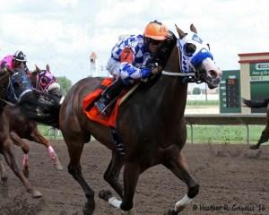 VOs Filo takes the Cash Caravan Stakes under Jose Montoya
