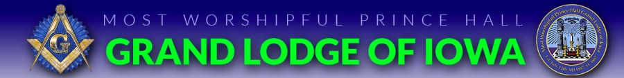 Most Worshipful Prince Hall Grand Lodge of Iowa header image