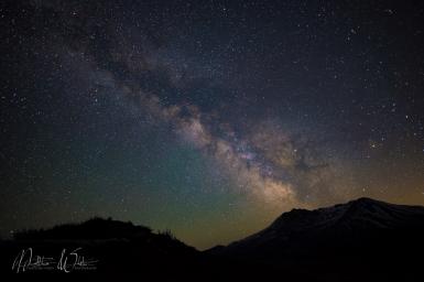 Mt St Helens, Erupting Milky Way