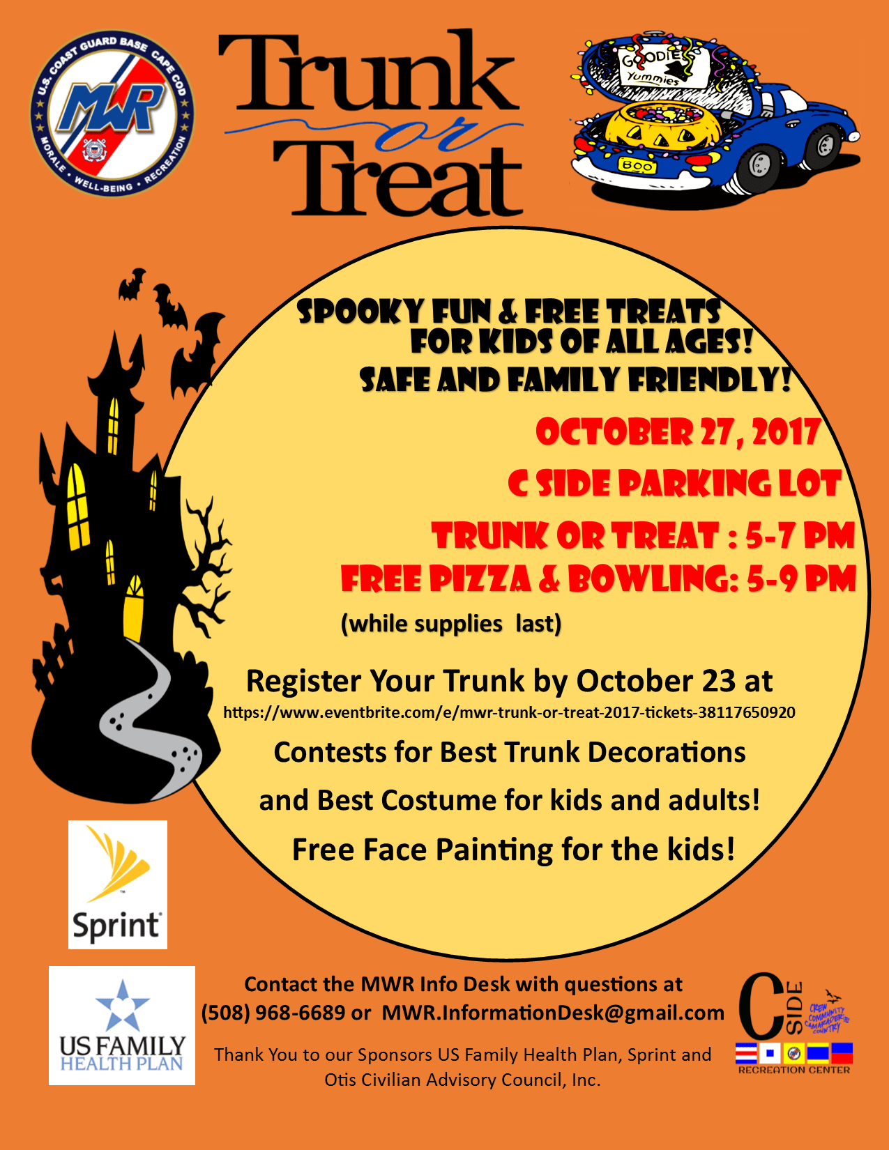 Trunk Or Treat October 27 2017 USCG Base Cape Cod MWR