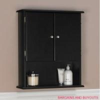 Ameriwood Bathroom Wall Cabinet Black | eBay